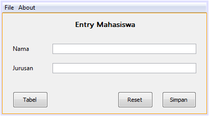 membuat program data entry dengan menggunakan SQLite