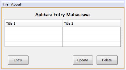 melakukan update entry dengan database SQLite Java