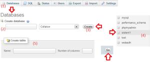 tutorial membuat database dengan menggunakan database mysql