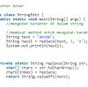 manipulasi string dengan menggunakan java