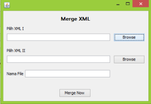 menggabungkan file xml java