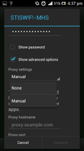 cara setting proxy di android xperia u ics