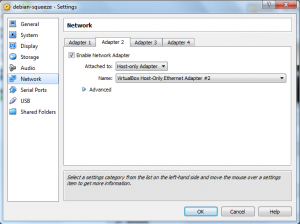 memberikan akses internet untuk host only network adapter virtualbox