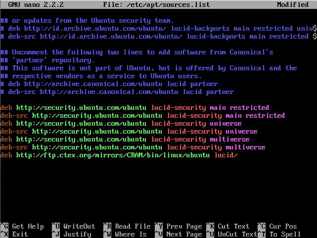 Install R Ubuntu Server 10-04
