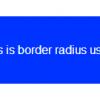 cara menggunakan border radius css3
