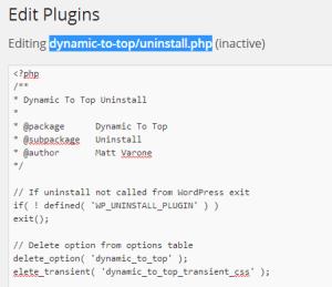 plugin wordpress tidak bisa di delete