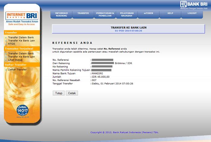 Apa Itu Nomor Referensi Nasabah Bri Internet Banking