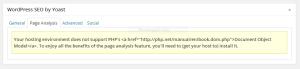 plugin wordpress seo yoast tidak bisa check page analysis