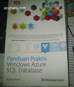 foto buku panduan praktis windows azure sql database