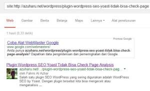cara mengecek apakah artikel sudah diindex Google