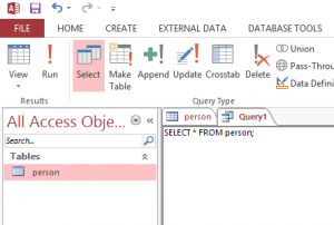 query di microsoft access
