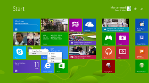 resize tiles setelah update Windows 8.1