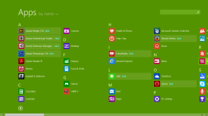 windows 8.1 apps menu