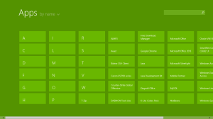 windows 8 apps sort by date