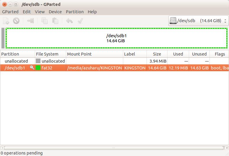 cara rename flashdisk di ubuntu