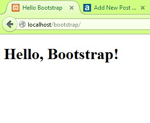 tutorial bootstrap part 2: hello bootstrap