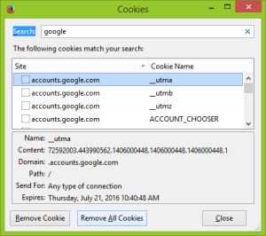 remove all cookies to solve firefox error