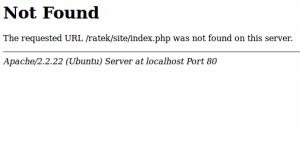 codeigniter 404 not found