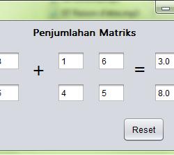 Membuat program matriks penjumlahan dengan menggunakna netbeans gui builder