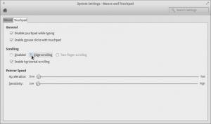 mengaktifkan touch pad scrolling