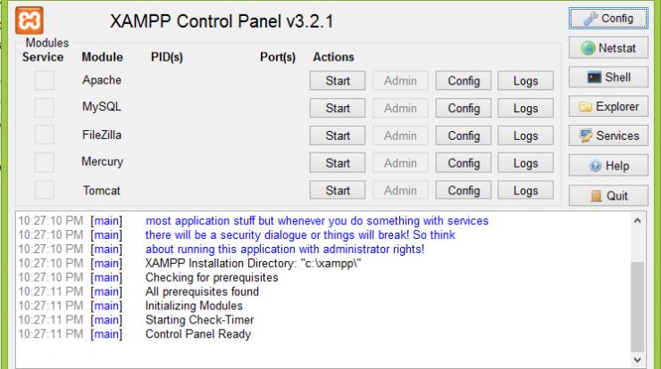 daftar versi php di xampp