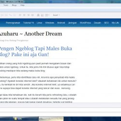 windows live writer preview