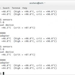 mengecek suhu laptop di ubuntu linux