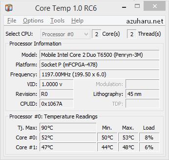 mengecek suhu laptop dengan core temp
