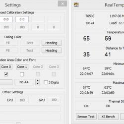 mengecek suhu komputer dengan real temp