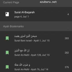 tampilan apps quran